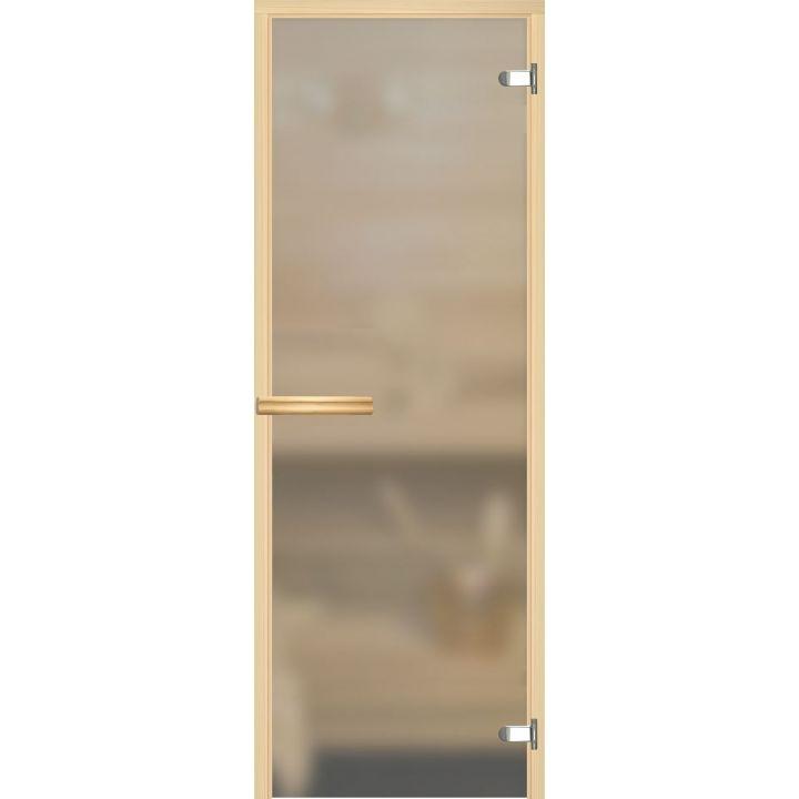 Дверь для сауны АКМА ASPEN МАТОВОЕ БЕСЦВЕТНОЕ