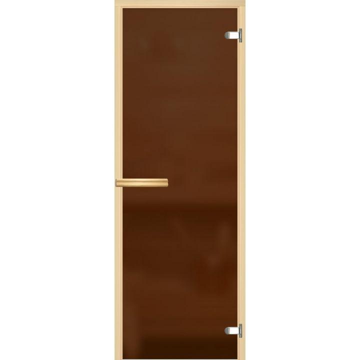 Дверь для сауны АКМА ASPEN БРОНЗА МАТОВАЯ