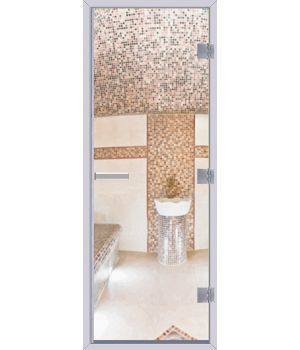 Стеклянная дверь АКМА Хамам 60G