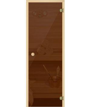 Дверь для сауны АКМА LIGHT БРОНЗА