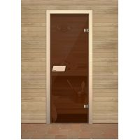 Дверь для сауны Narvia Бронза