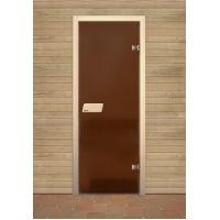 Дверь для сауны Narvia Бронза Матовая