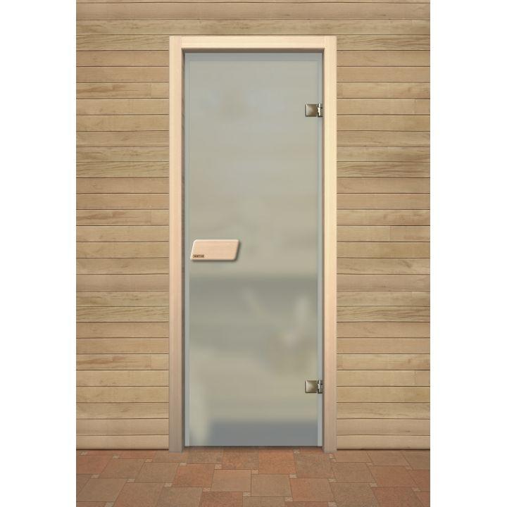 Дверь для сауны Narvia Бесцветное Матовое
