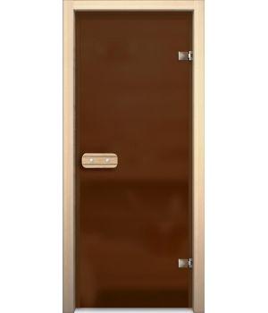 Дверь для сауны АКМА LINDEN БРОНЗА МАТОВАЯ