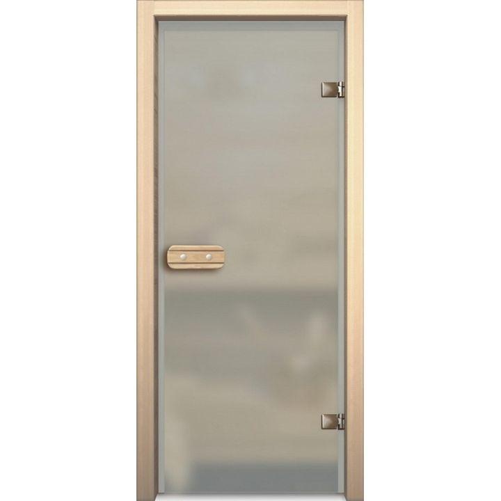 Дверь для сауны АКМА LINDEN МАТОВОЕ БЕСЦВЕТНОЕ