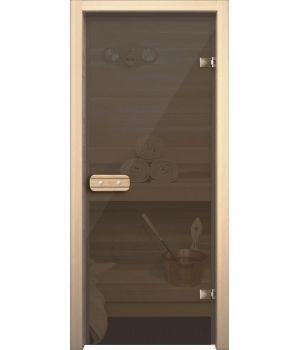 Дверь для сауны АКМА ASPEN СЕРОЕ ПРОЗРАЧНОЕ