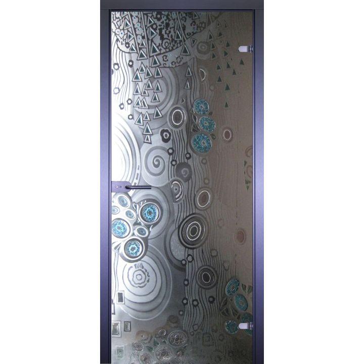 Стеклянная дверь АКМА ART-DECOR АБСТРАКТА