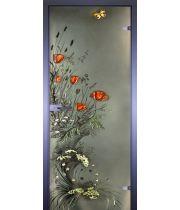 Стеклянная дверь АКМА ART-DECOR МАКИ С БАБОЧКОЙ