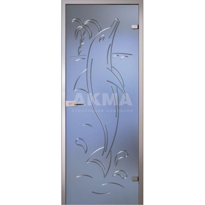 Стеклянная дверь АКМА Fantasy Дельфин
