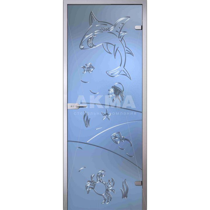 Стеклянная дверь АКМА Fantasy Море