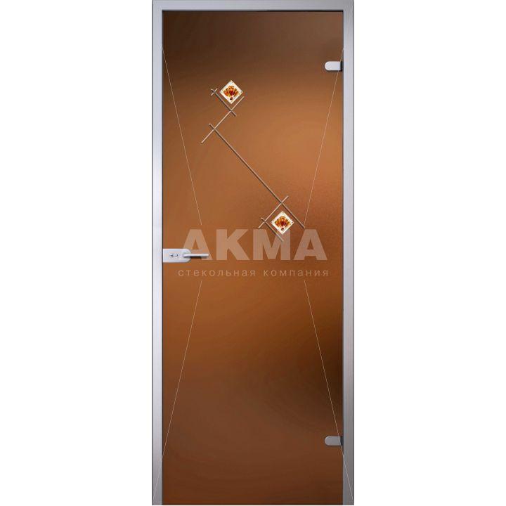 Стеклянная дверь АКМА FLORID БЬЯНКА