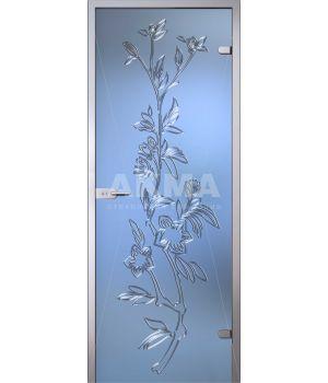 Стеклянная дверь АКМА Flowers Лизиантус