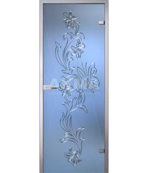 Стеклянная дверь АКМА Flowers Орхидея