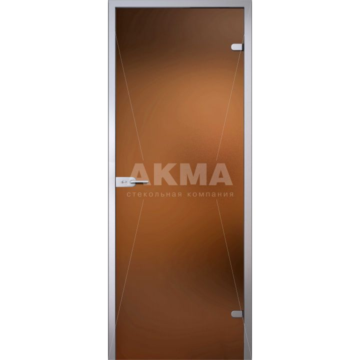 Стеклянная дверь АКМА LIGHT БРОНЗА МАТОВАЯ