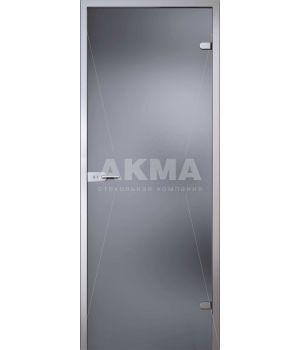 Стеклянная дверь АКМА LIGHT СЕРОЕ ТОНИРОВАННОЕ