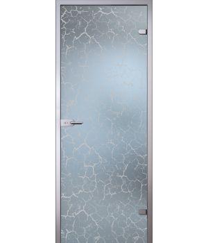 Стеклянная дверь АКМА SATIN КРАКЛЕ