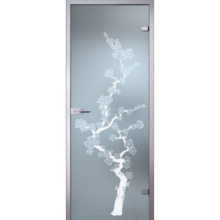 Стеклянная дверь АКМА SATIN САКУРА