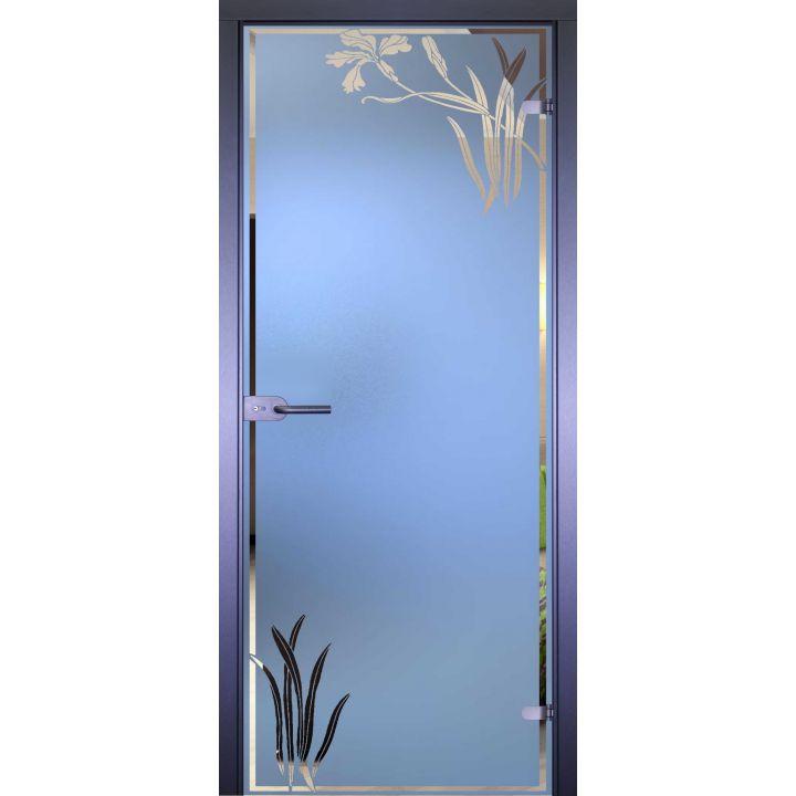 Стеклянная дверь АКМА MIRRA 0018 ИРИС