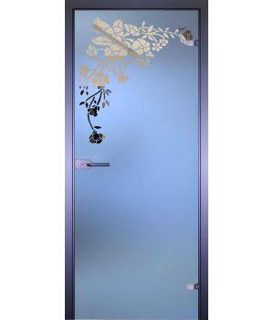 Стеклянная дверь АКМА MIRRA 0022 УГОЛОК БУКЕТ