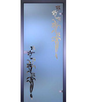 Стеклянная дверь АКМА MIRRA 0041 ЦВЕТОЧКИ