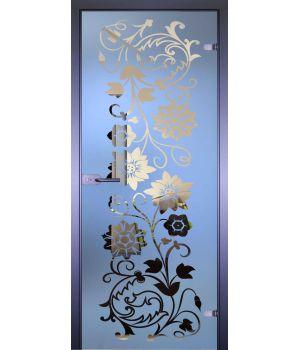 Стеклянная дверь АКМА MIRRA 0050 ЦВЕТЫ