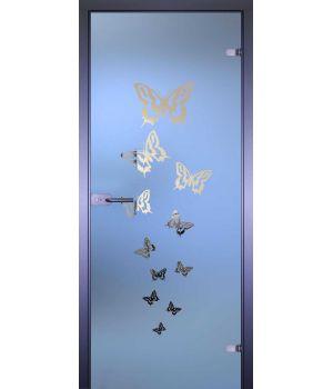 Стеклянная дверь АКМА MIRRA 0080 БАБОЧКИ-РАЗЛЕТ