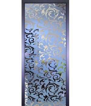 Стеклянная дверь АКМА MIRRA 0094 ОБОИ-ВЯЗЬ