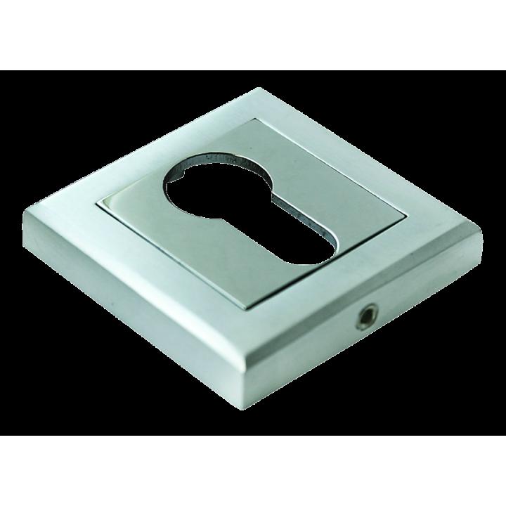 Накладки на ключевой цилиндр Morelli MH-KH-S SC/CP Матовый хром